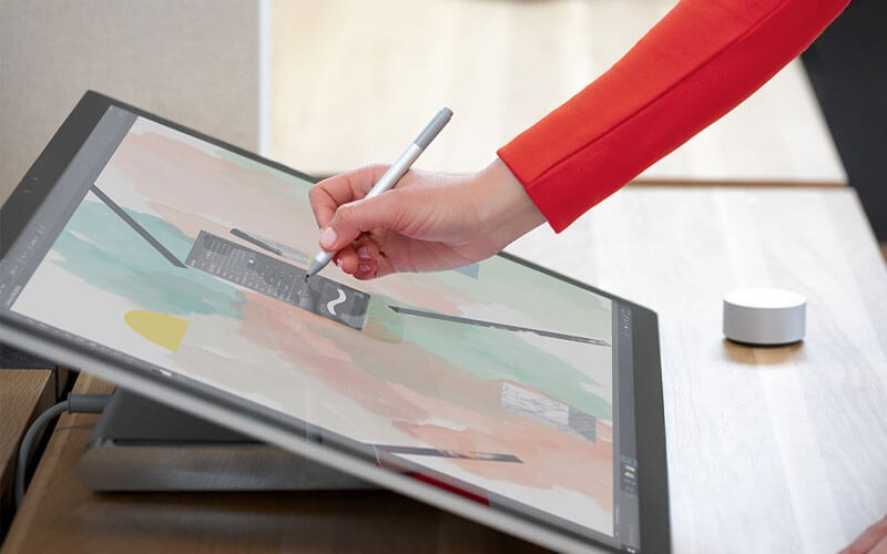 A Surface Studio 2 in use