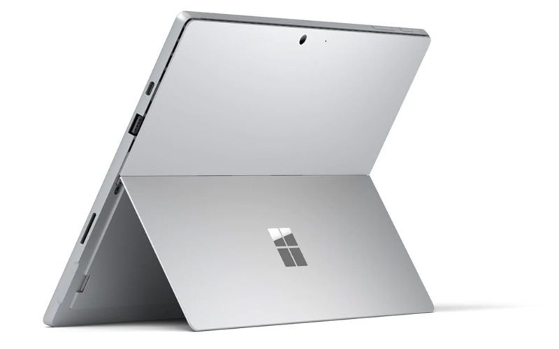 Rear view of the new Microsoft Surface Pro 7